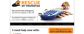 rescue my property - WordPress default template designed