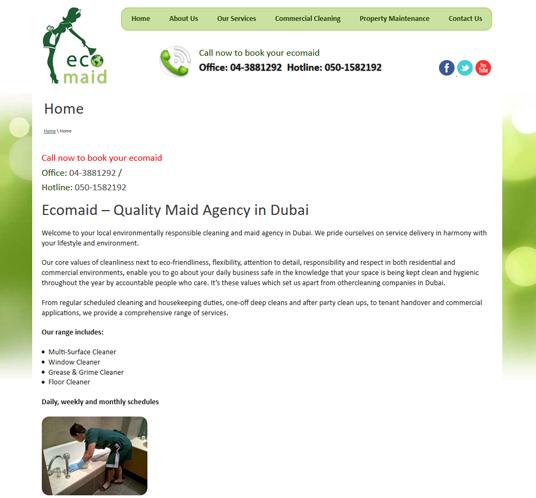 Ecomaid – Quality Maid Agency in Dubai
